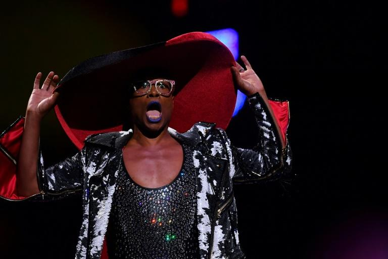 Billy Porter performing at the opening ceremony of World Pride in New York, kicking off days of gay rights celebrations