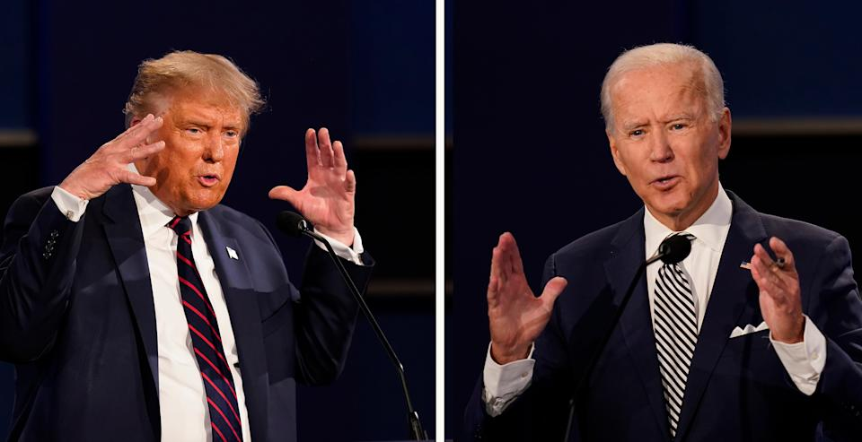 Donald Trump and Joe Biden will likely not know who will reside in the White House until several days after the November 3 voteAP