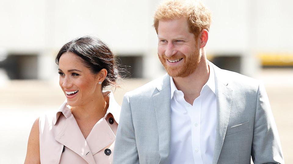 Royal aides have slammed Prince Harry, claiming he and Meghan should lose their titles after the Duke gave another bombshell interview. Photo: Getty