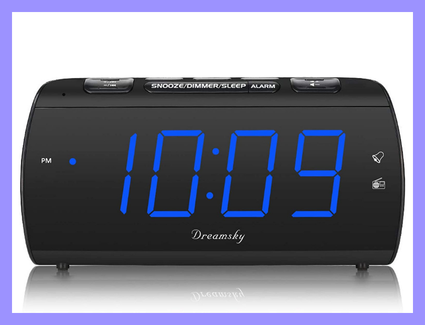 This alarm clock charges your phone as you snooze — save 30 percent off for Prime members only! (Photo: Amazon)