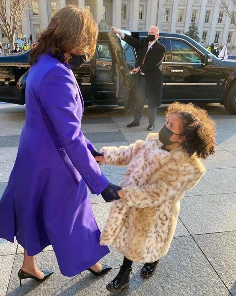 "<p>Harris' <a href=""https://people.com/style/meena-harris-daughters-wear-custom-inauguration-coats-inspired-by-great-aunt-kamala-harris/"" rel=""nofollow noopener"" target=""_blank"" data-ylk=""slk:great-nieces wore custom coats that were a reference to one the Vice President herself wore"" class=""link rapid-noclick-resp"">great-nieces wore custom coats that were a reference to one the Vice President herself wore</a> as a child.</p>"