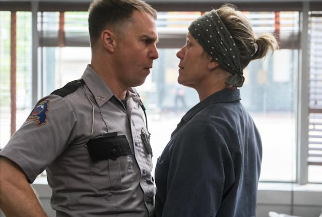 Sam Rockwell and Frances McDormand in 'Three Billboards Outside Ebbing, Missouri' (Fox Searchlight)