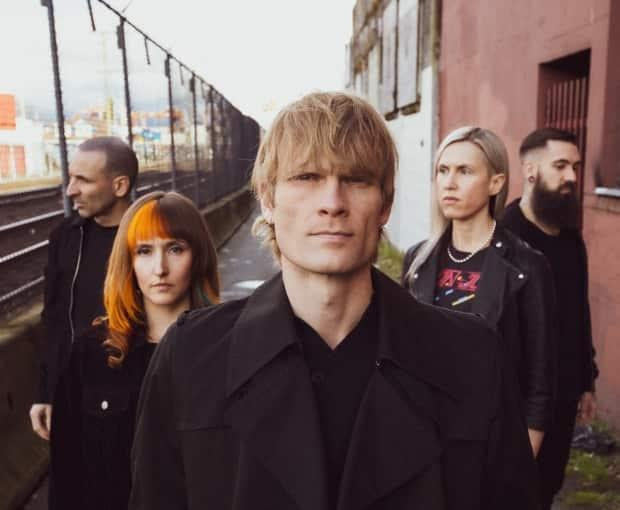Ryan Guldemond, centre, singer and guitarist for Canadian Indie rock band Mother Mother, found a new avenue to reach fans during the pandemic on the social media app TikTok.