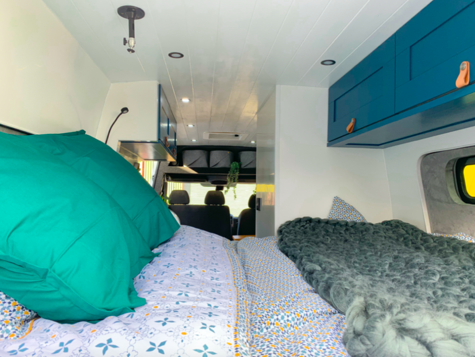 The interior of the van has been made to feel as comfortable as a hotel. (Caters)