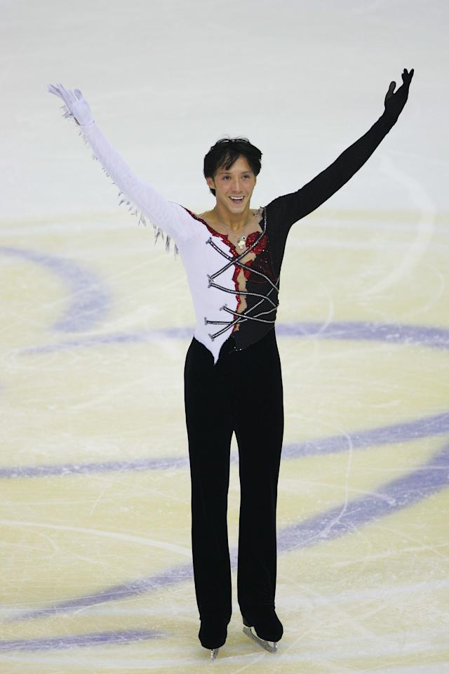 During the men'sfree skating during the Cup of China Figure Skating competition, held at Harbin International Conference Exhibition and Sports Center on Nov. 10, 2007, in Harbin, China.