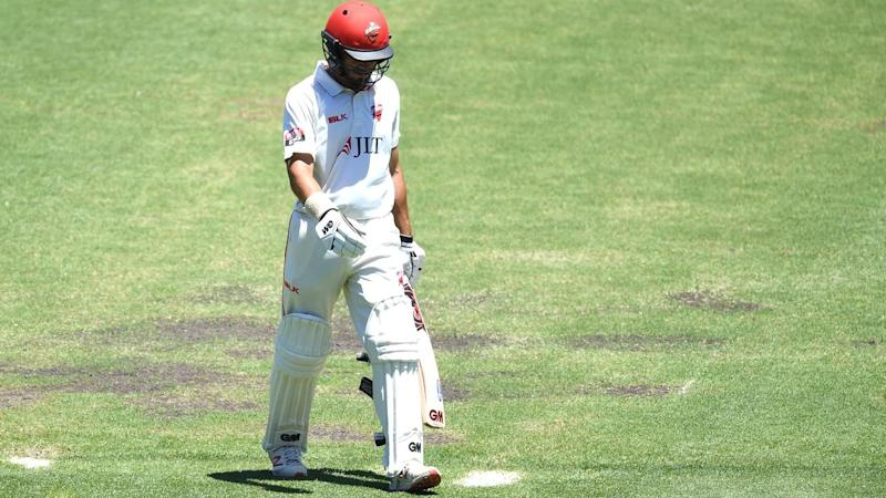 Jake Weatherald (pic) and Jake Lehmann have hit 50s for South Australia in the NSW Shield game