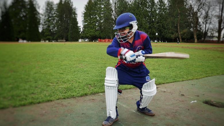 Young Vancouver cricket player gets shot against big boys in local tournament