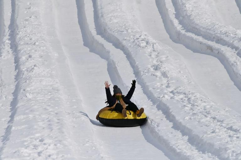 The snow slide is one of the main attractions