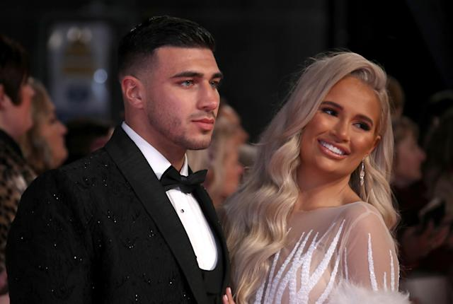 Molly-Mae Hague was given the puppy as a 21st birthday present by boyfriend Tommy Fury. (Getty Images)