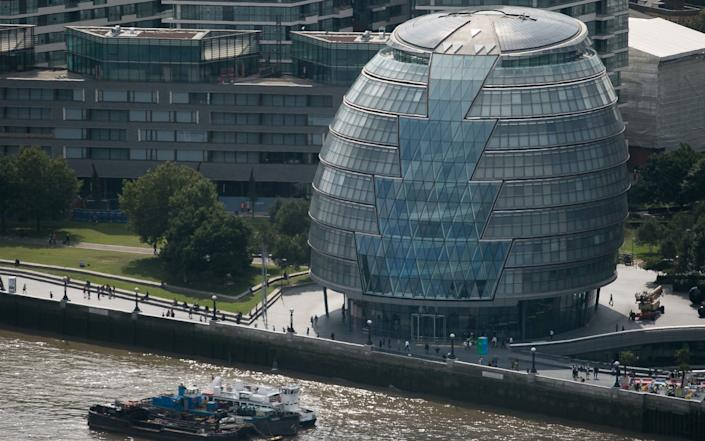 """City Hall was famously dubbed the """"glass gonad"""" by Boris Johnson."""