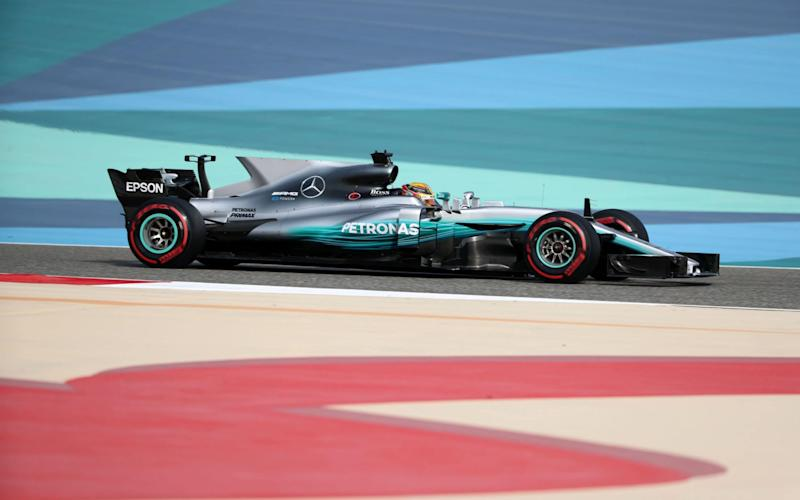Lewis Hamilton is looking for his third pole of the season in Bahrain - Credit: KARIM SAHIB /AFP