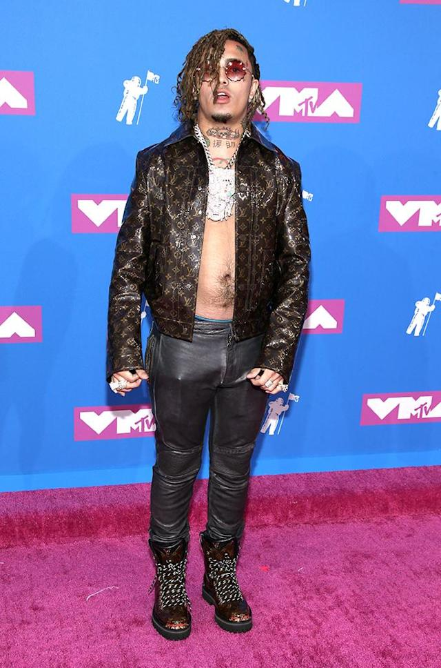 <p>Lil Pump attends the 2018 MTV Video Music Awards at Radio City Music Hall on August 20, 2018 in New York City. (Photo: Paul Zimmerman/WireImage) </p>