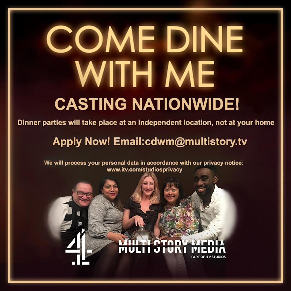 Filming of Come Dine With Me to resume