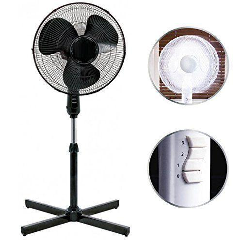 """<p>Black 16 inch pedestal fan with 3 speed settings.</p><p><strong><em>Standing Fan by Eurotrade W Ltd, £20, Amazon </em></strong></p><p><a rel=""""nofollow"""" href=""""https://www.amazon.co.uk/Standing-Pedestal-Adjustable-Oscillating-Rotating/dp/B01DUE3B3K/"""">BUY NOW</a></p>"""