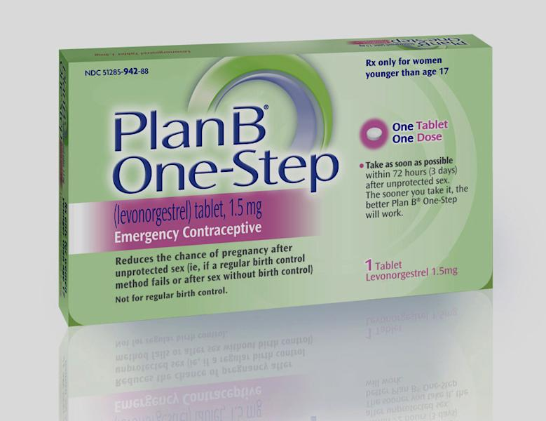 FILE - This undated file photo provided by Barr Pharmaceuticals Inc., shows a package of Plan B One-Step, an emergency contraceptive. The federal government on Monday, June 10, 2013 told a judge it will reverse course and take steps to comply with his order to allow girls of any age to buy emergency contraception without prescriptions. (AP Photo/Barr Pharmaceuticals Inc., File)