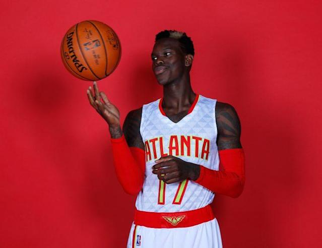 The ball belongs to Dennis Schröder now. (Kevin C. Cox/ Getty Images)