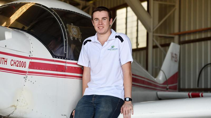 Queensland teenager Lachlan Smart has become the youngest person to fly solo around the world.