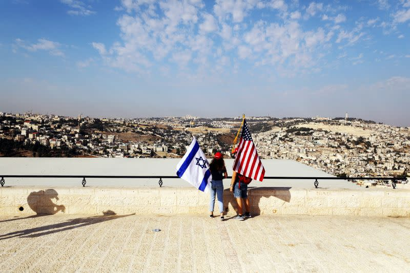 FILE PHOTO: Convoy of Trump supporters drives to U.S. embassy in Jerusalem