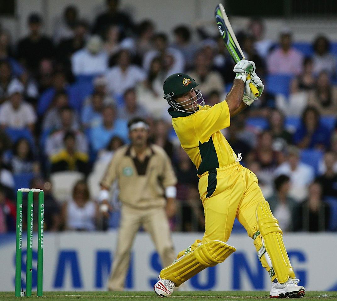 AUCKLAND, NEW ZEALAND - FEBRUARY 17:  Ricky Ponting of Australia in action during the Twenty20 International Match between New Zealand and Australia played at Eden Park on February 17, 2005 in Auckland, New Zealand  (Photo by Hamish Blair/Getty Images)