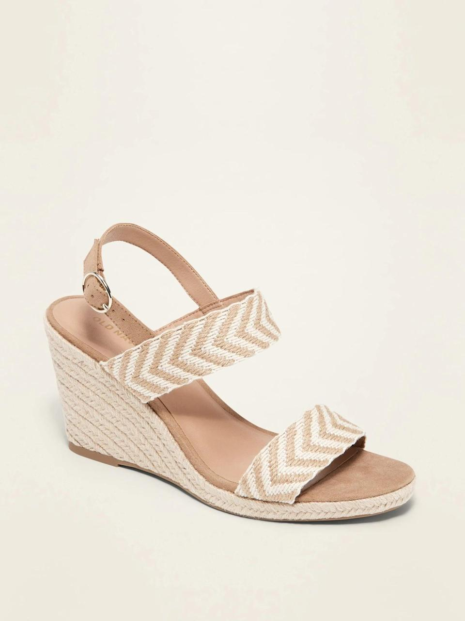 <p>Elevate their spring and summer dresses with these chic <span>Double-Strap Espadrille Wedge Sandals</span> ($30, originally $40). They also come in black.</p>