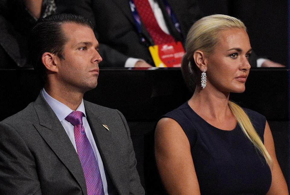 Donald Trump Jr. and estranged wife Vanessa in 2016 (Photo: Jeff Swensen/Getty Images)