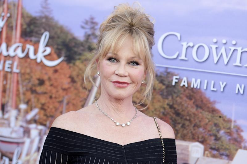 "Melanie Griffith attends the 2016 Summer TCA ""Hallmark Event"" on Wednesday, July 27, 2016, in Beverly Hills, Calif. (Photo by Richard Shotwell/Invision/AP)"