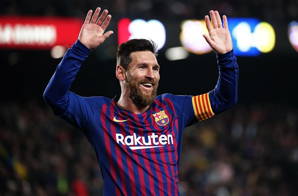Lionel Messi, in a match between FC Barcelona on January 17, 2019.