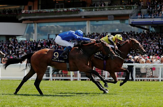 Horse Racing - Royal Ascot - Ascot Racecourse, Ascot, Britain - June 22, 2018 Main Edition ridden by James Doyle wins the 2.30 Albany Stakes Action Images via Reuters/Paul Childs