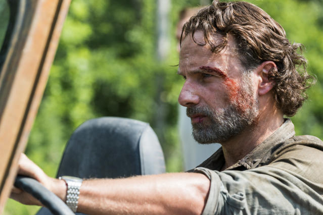 <p>Andrew Lincoln as Rick Grimes in AMC's <i>The Walking Dead</i>.<br>(Photo: Gene Page/AMC) </p>