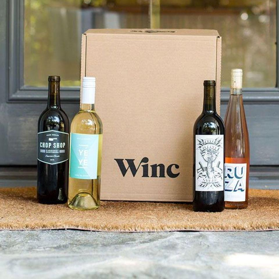 """<h2>Winc Monthly Wine Box</h2><br>Treat her to a wine-filled next few months with Winc's curated subscription service that delivers four bottles, personalized by her palate preferences, directly to her doorstep. Plus, for a limited time, buy 4 bottles and get $20 off your order. <br><br><em>Shop <strong><a href=""""https://www.winc.com/"""" rel=""""nofollow noopener"""" target=""""_blank"""" data-ylk=""""slk:Winc"""" class=""""link rapid-noclick-resp"""">Winc</a></strong></em><br><br><strong>Winc</strong> Monthly Wine Subscription, 4-Bottle Box, $, available at <a href=""""https://go.skimresources.com/?id=30283X879131&url=https%3A%2F%2Fwww.winc.com%2F"""" rel=""""nofollow noopener"""" target=""""_blank"""" data-ylk=""""slk:Winc"""" class=""""link rapid-noclick-resp"""">Winc</a>"""