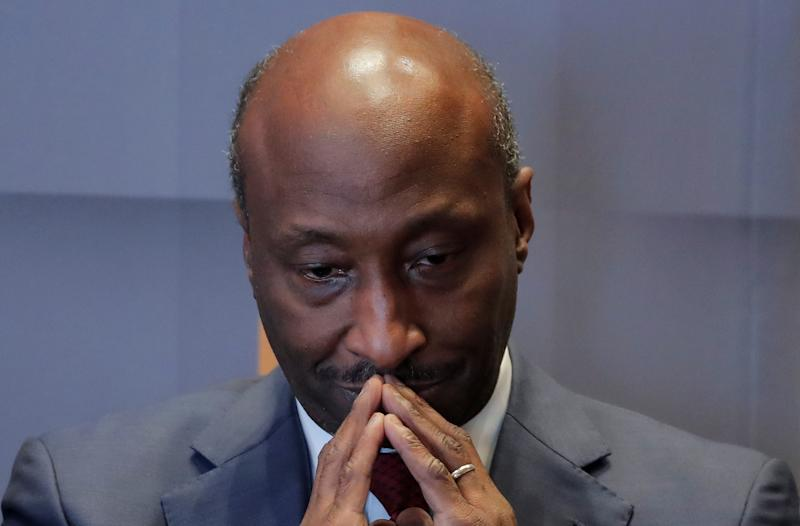 Ken Frazier, Chairman and CEO, Merck & Co., speaks during a meeting of the Economic Club of New York in New York City, U.S., October 3, 2018. REUTERS/Brendan McDermid