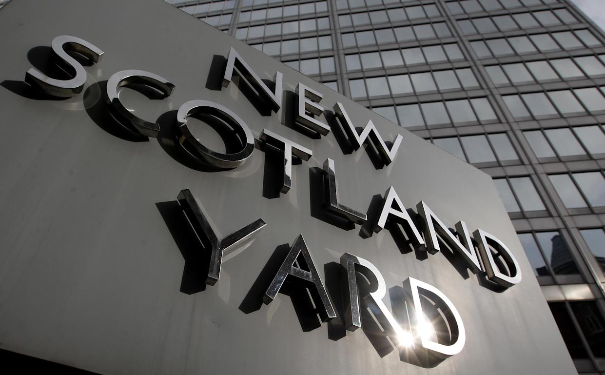 General view of New Scotland Yard, the headquarters of the Metropolitan Police, in Westminster, London.