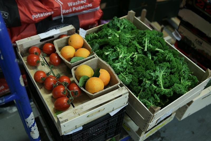 The landmark health study in The Lancet calls on people to double their consumption of vegetables, fruits and nuts (AFP Photo/Daniel LEAL-OLIVAS)