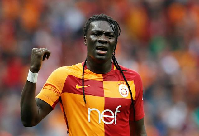 Soccer Football - Turkish Super League - Galatasaray v Besiktas - Turk Telekom Arena, Istanbul, Turkey - April 29, 2018 Galatasaray's Bafetimbi Gomis reacts REUTERS/Murad Sezer