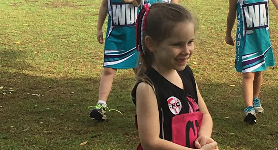 Olivia Douglas, 8, is pictured.