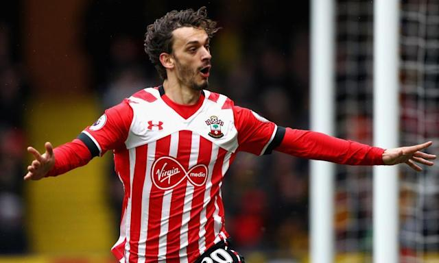 "<span class=""element-image__caption"">Manolo Gabbiadini had six goals from five appearances for Southampton before he sustained a groin injury.</span> <span class=""element-image__credit"">Photograph: Ian Walton/Getty Images</span>"