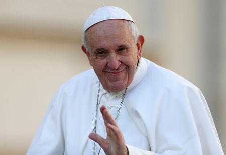 FILE PHOTO: Pope Francis holds weekly audience at the Vatican
