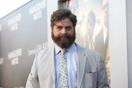 """Galifianakis poses at the premiere of """"The Hangover Part III"""" at the Westwood Village theatre in Los Angeles"""