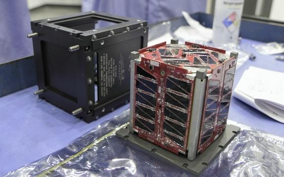 This tiny cubesat, dubbed TJ3Sat, is set to launch into space on Nov. 19, 2013. It will be the first satellite designed and built by high school students to be sent into orbit.