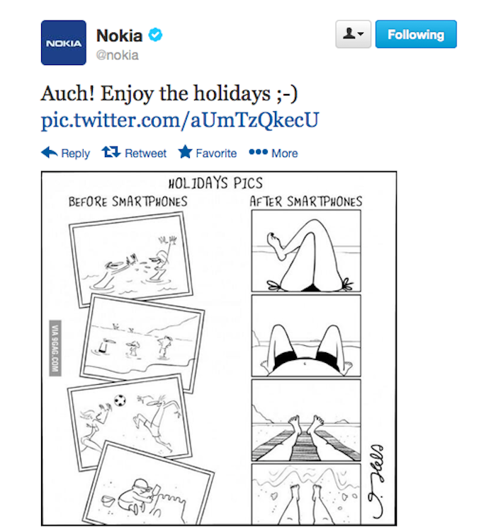 Nokia holiday tweet