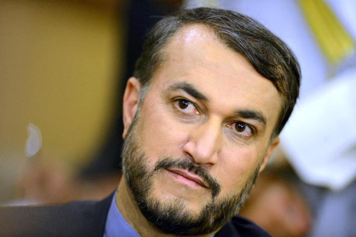 Iranian Deputy Foreign Minister Hossein Amir-Abdollahian, pictured during a visit to Kuwait, in March 2015 (AFP Photo/-)