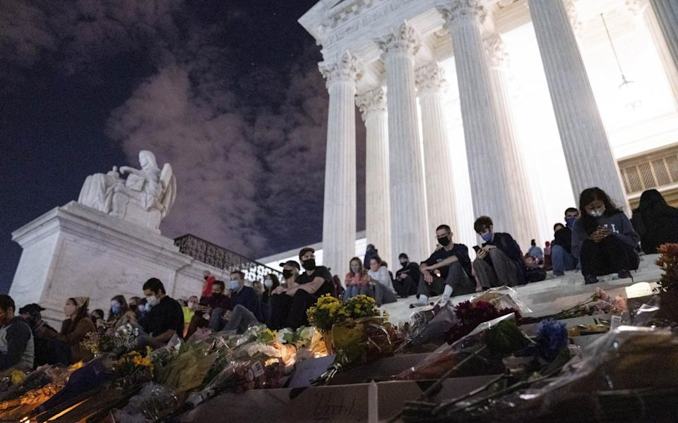 A public viewing will be held outside the Supreme Court on Wednesday and Thursday - Sarah Silbiger/Bloomberg