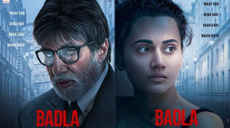 badla posters amitabh bachchan and taapsee pannu