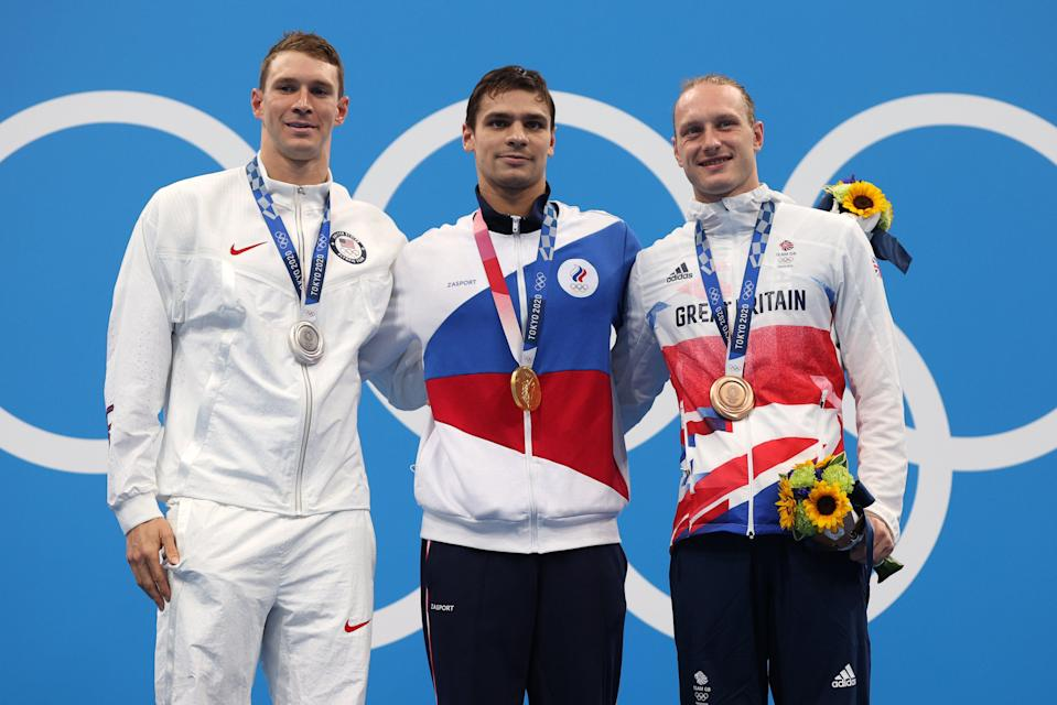Murphy, Rylov and Greenbank on the podium (Getty Images)