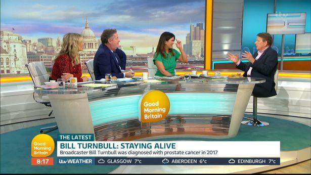 Susanna Reid and Bill Turnbull were delighted to be reunited on 'Good Morning Britain' (Credit: ITV)
