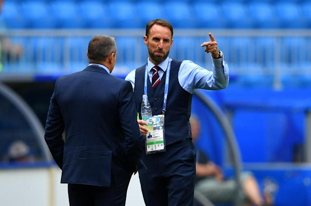 <p>England manager Gareth Southgate with England U21 team manager Aidy Boothroyd </p>