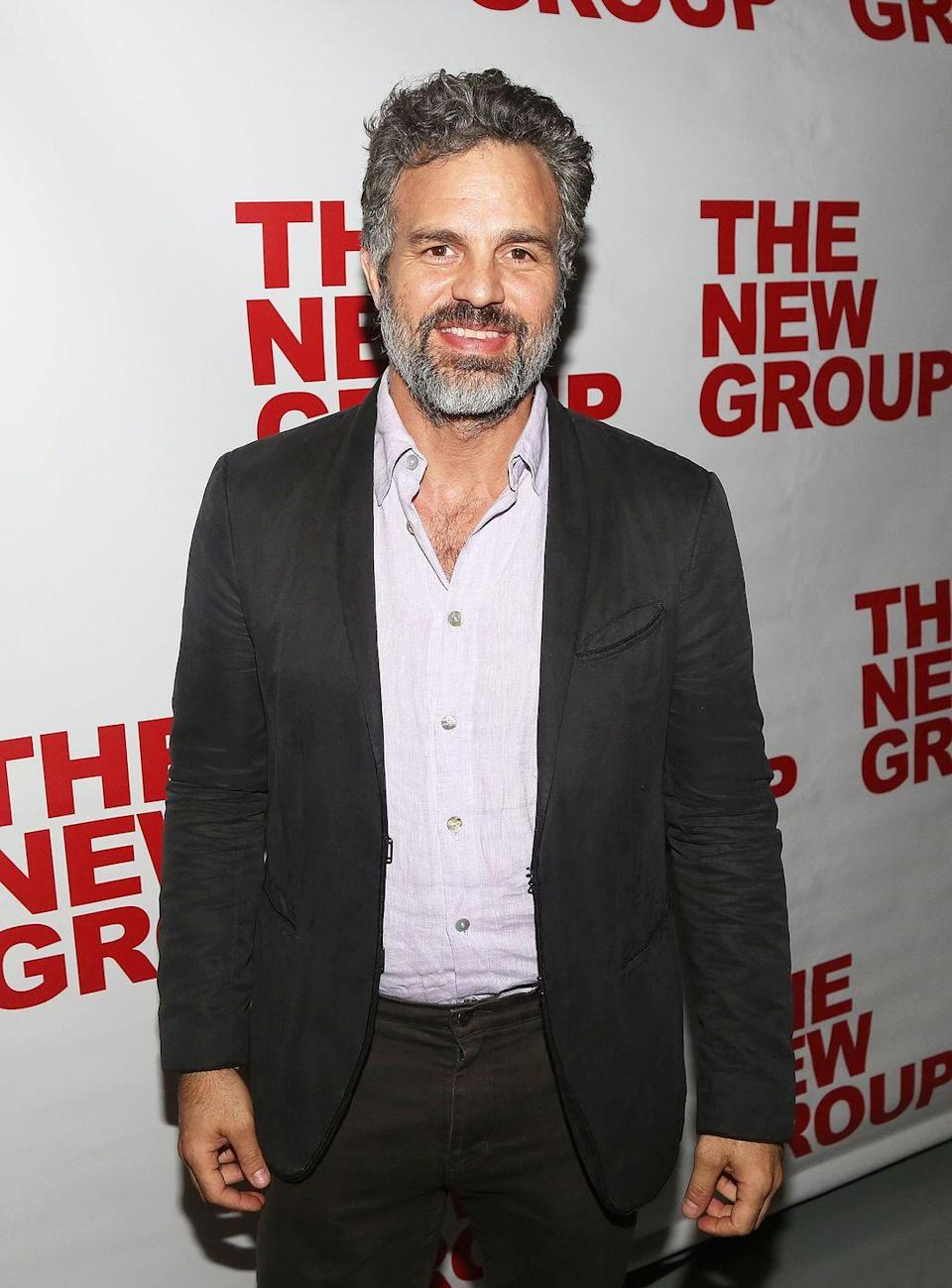 <p>Mark Ruffalo (a.k.a. <em>The Incredible Hulk</em>) just so happens to have incredibly thick chest hair. Clearly, he knows it's an asset and, as such, shows it off whenever acceptable. </p>