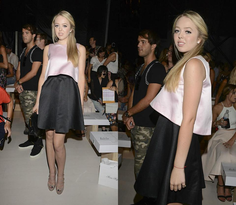 <p>Looking gorgeous in a crop top and high-waist skirt combo during Mercedes-Benz Fashion Week Spring 2015 in NYC. <i> (Photos: Getty) </i> </p>