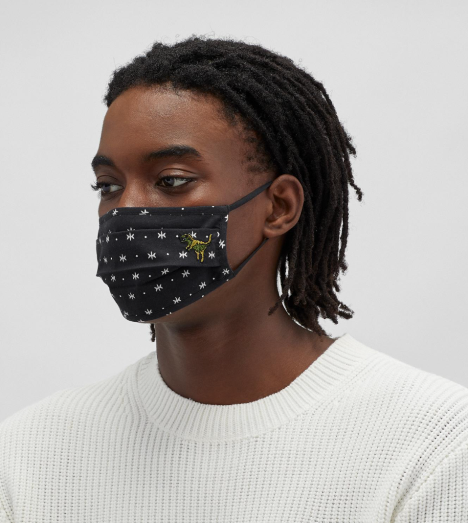 Coach 'Rexy' Face Mask in Star Dot Print (Photo via Coach)