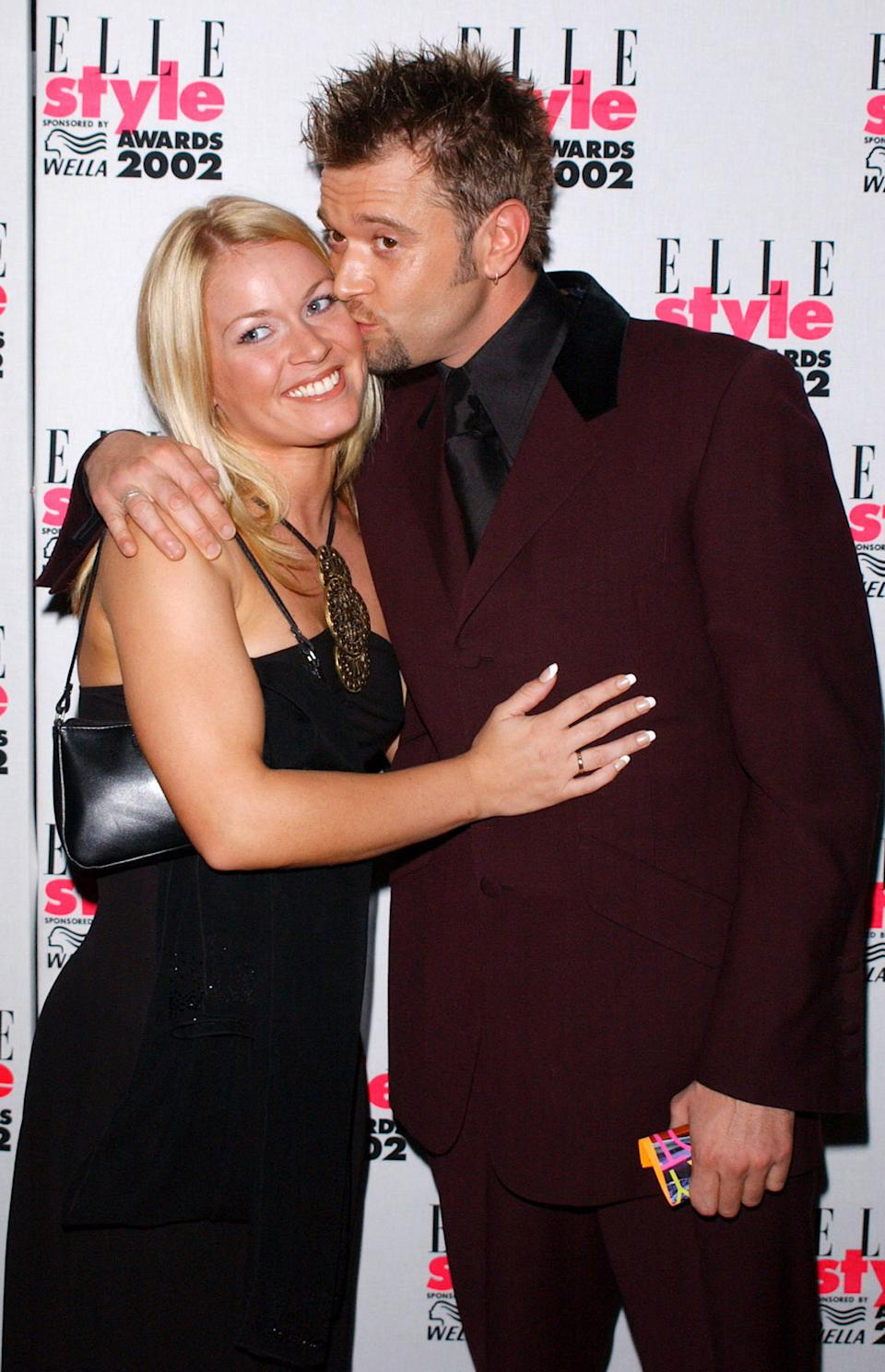Darren Day and his girlfriend Adele at the Elle Style Awards at the Natural History Museum, London.